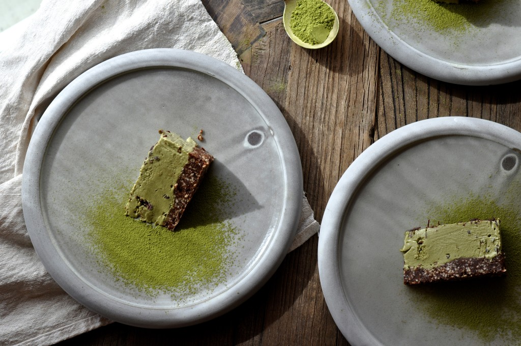 Raw Matcha Mint Cacao Chip Ice Cream Cake | Oh, Holy Basil